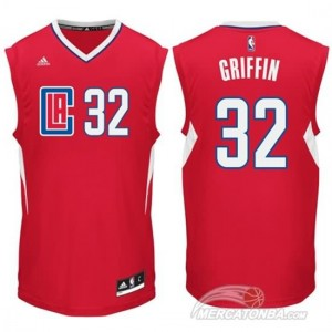 Maglie Shop Griffi Los Angeles Clippers Rosso