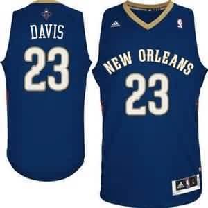 Canotte NBA Rivoluzione 30 Davis New Orleans Pelicans Blu