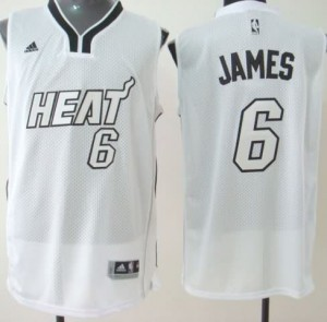 Maglie Basket James Miami Heats Bianco