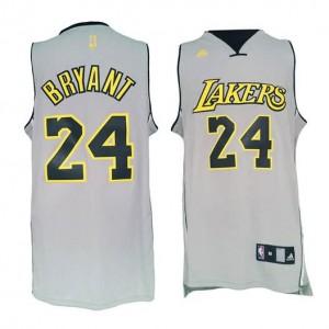 Canotte NBA Rivoluzione 30 Kobe Bryant Los Angeles Lakers Grigio