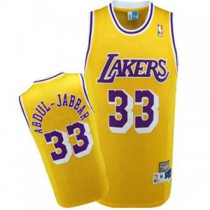 Maglie Shop Abdul Jabbar Los Angeles Lakers Giallo