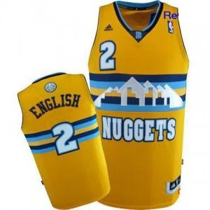 Canotte NBA Rivoluzione 30 Alex English Denver Nuggets Giallo