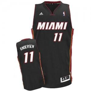 Canotte NBA Rivoluzione 30 Andersen Miami Heats Nero