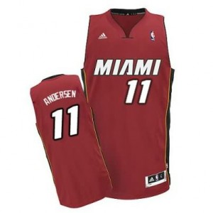 Canotte NBA Rivoluzione 30 Andersen Miami Heats Rosso