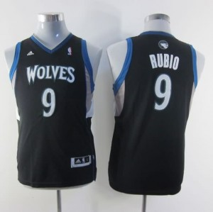 Maglie NBA Bambini Rubio Minnesota Timberwolves Nero