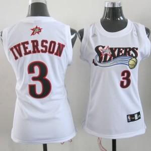 Maglie NBA Donna Iverson Philadelphia 76ers Bianco