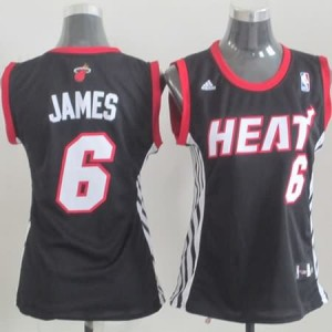 Maglie NBA Donna James Miami Heats Nero