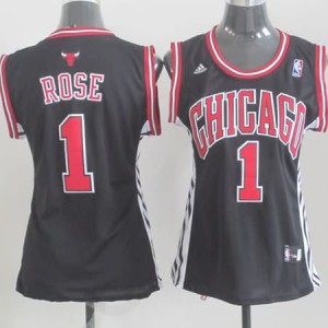 Maglie NBA Donna Rose Chicago Bulls Nero