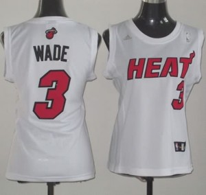 Italia Maglie Donna Wade Miami Heats Bianco