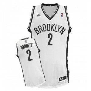 Canotte NBA Rivoluzione 30 Garnett Brooklyn Nets Bianco