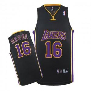 Canotte NBA Rivoluzione 30 Gasol Los Angeles Lakers Nero Porpora