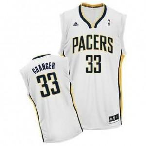Canotte NBA Rivoluzione 30 Granger Indiana Pacers Bianco