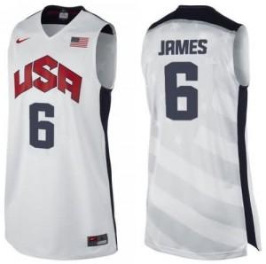 Canotte James USA 2012 Bianco