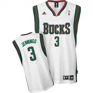 Canotte NBA Rivoluzione 30 Jennings Milwaukee Bucks Bianco