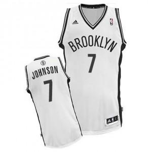 Canotte NBA Rivoluzione 30 Johnson Brooklyn Nets Bianco