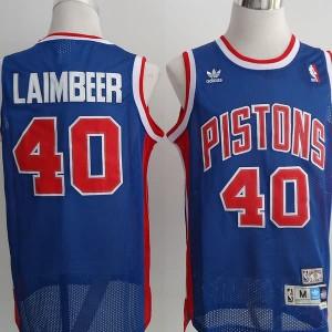 Maglie Basket Laimbeer Detroit Pistons Blu