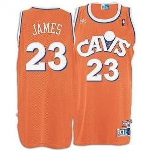 Maglie Basket Lebron James Cleveland Cavaliers Arancione