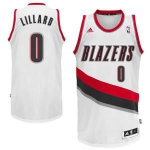 Canotte NBA Rivoluzione 30 Lillard Portland Trail Blazers Bianco