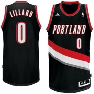 Canotte NBA Rivoluzione 30 Lillard Portland Trail Blazers Nero