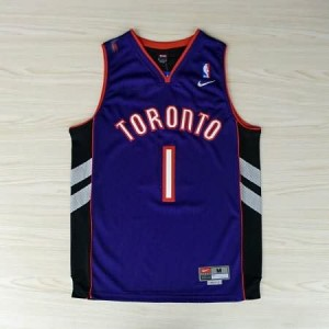 Maglie NBA McGrady Toronto Raptors Nero Porpora