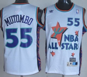 Canotte NBA Mutombo All Star 1995 Bianco