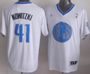 Canotte Basket Natale 2013 Nowitzki Bianco