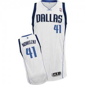 Maglie Basket Nowitzki Dallas Mavericks Bianco