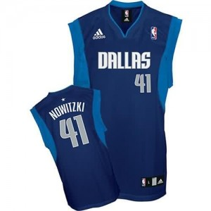 Maglie Basket Nowitzki Dallas Mavericks Blu