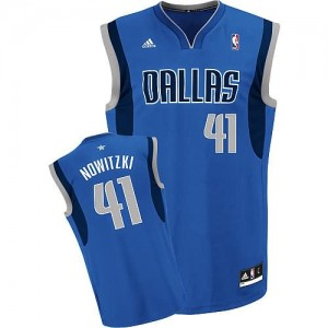 Canotte NBA Rivoluzione 30 Nowitzki Dallas Mavericks Blu