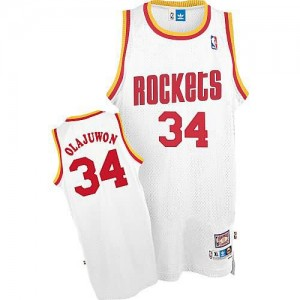 Maglie Basket Olajuwon Houston Rockets Bianco
