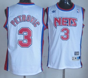 Maglie Basket Petrovic Brooklyn Nets Bianco