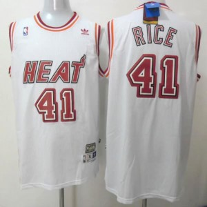 Maglie Basket Rice Miami Heats Bianco