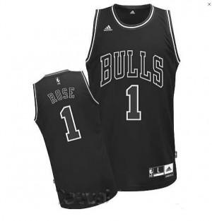 Canotte NBA Rivoluzione 30 Rose Chicago Bulls Nero