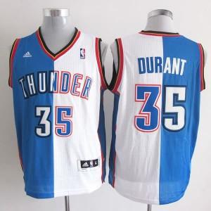 Canotte NBA Split Durant Blu Bianco