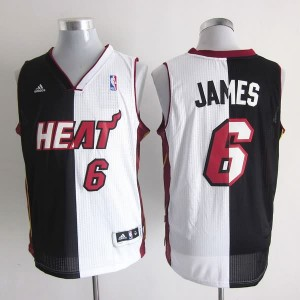 Canotte NBA Split James Nero Bianco
