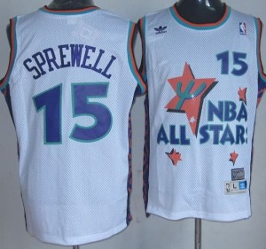 Canotte NBA Sprewell All Star 1995 Bianco
