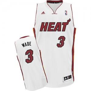 Canotte NBA Rivoluzione 30 Wade Miami Heats Bianco