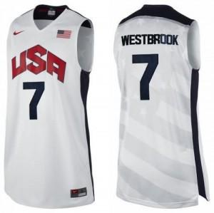 Canotte Westbrook USA 2012 Bianco