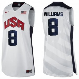 Canotte Williams USA 2012 Bianco