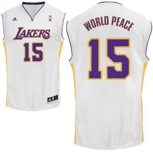 Canotte NBA Rivoluzione 30 WorldPeace Los Angeles Lakers Bianco