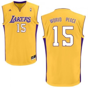 Canotte NBA Rivoluzione 30 WorldPeace Los Angeles Lakers Giallo