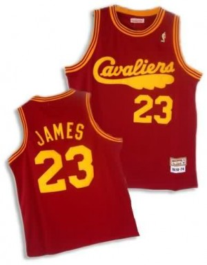 Maglie Basket retro Lebron James Cleveland Cavaliers Rosso