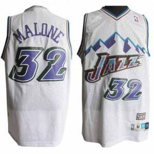 Maglie Basket retro Malone Utah Jazz Bianco