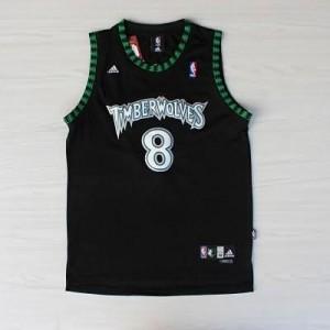Maglie Basket retro Sprewell Minnesota Timberwolves Nero