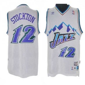 Maglie Basket retro Stockton Utah Jazz Bianco