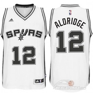 Maglie Shop Aldridge San Antonio Spurs Bianco