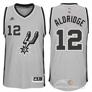 Maglie Shop Aldridge San Antonio Spurs Grigio