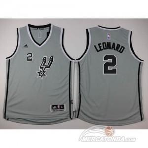 Maglie NBA Bambini Leonard San Antonio Spurs Grigio
