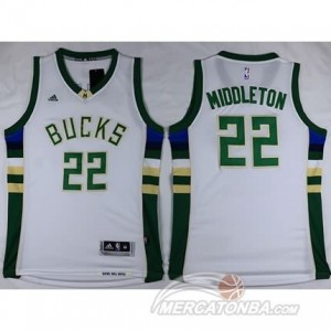 Canotte Basket Middleton Milwaukee Bucks Bianco