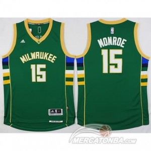Canotte Basket Monroe Milwaukee Bucks Verde